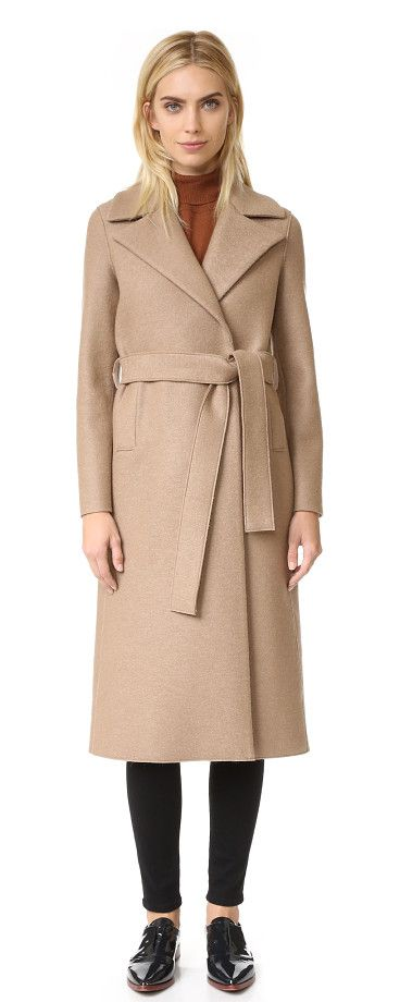 Boxy duster coat by Harris Wharf London. This elegant Harris Wharf London coat is crafted in brushed, bonded felt. Raised seams and welt side pockets. Hidden ...