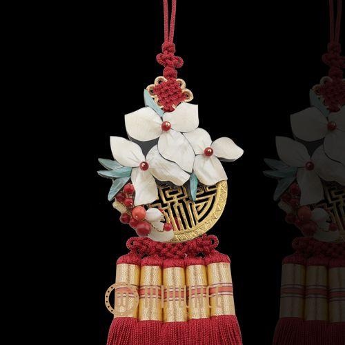 장옥정, 자개꽃 빨강색 노리개 - 고품격 수공예 주얼리 민휘아트주얼리 MINWHEE ART JEWELRY