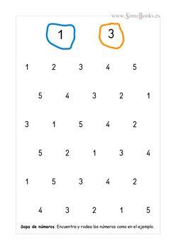 15. Crucigramas de números (1 a 5)
