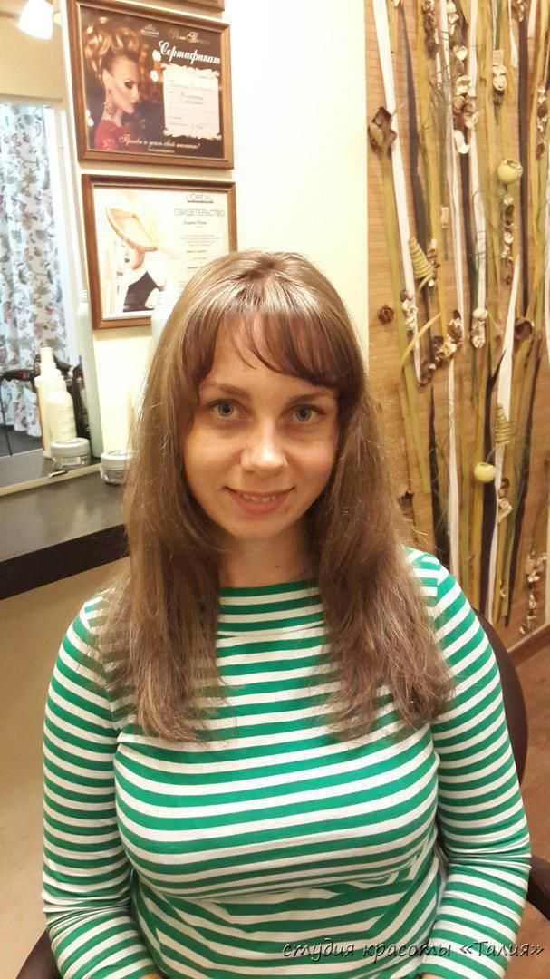 Колорирование, стрижка   Студия красоты Талия, салон красоты, парикмахерская