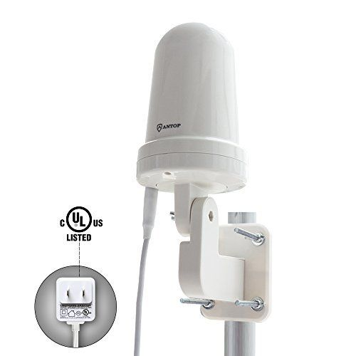 #marineelectronics Outdoor HDTV antenna-ANTOP UFO 360 ° Amplified Antenna Long Range Reception Omni-directional for Attic Home RV TV with…