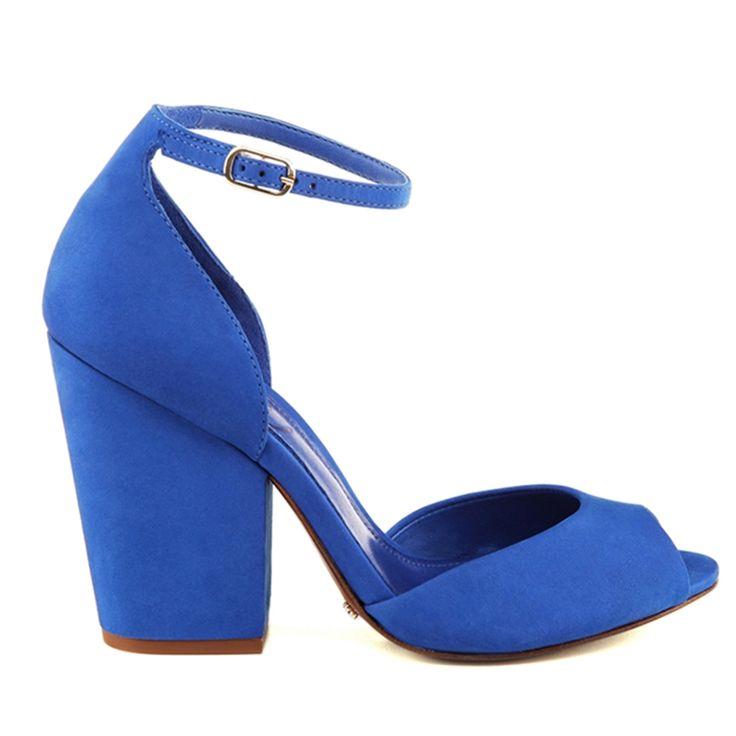SANDÁLIA SALTO BLOCO CLASSIC BLUE - Schutz