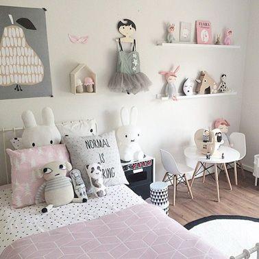 Déco de chambre de petite fille aux couleurs pastel
