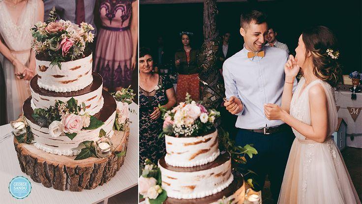 Wedding photographer Romania - George Sandu photograph | wedding cake | #wedding #trashthedress #slatina #nunta #photographer #romaniawedding