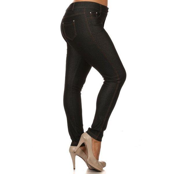 Women's HoneyComfy Basic 5 Pocket Colored Jeggings - Plus Size P ($24) ❤  liked - Best 25+ Plus Size Leggings Ideas On Pinterest Plus Fashion