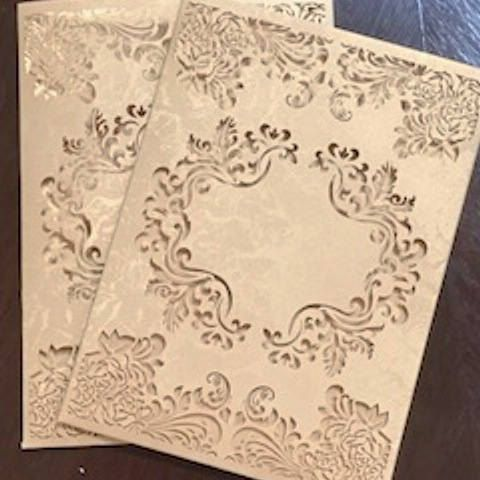 14 Best Laser Cut Wedding Invitation Pockets Images On Pinterest