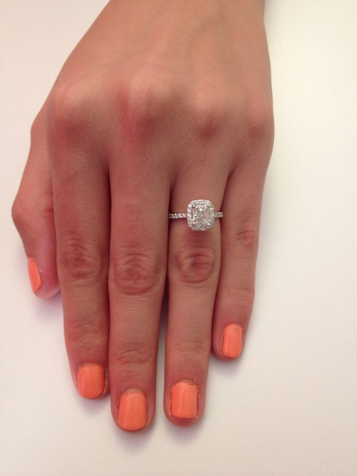 rose gold engagement rings cushion cut size of diamond - Google Search