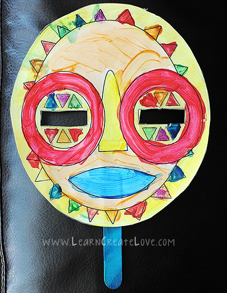 AFRICAN TRIBAL MASKS - Learn About Africa - 3 Masks Available - Free Printables | LearnCreateLove.com