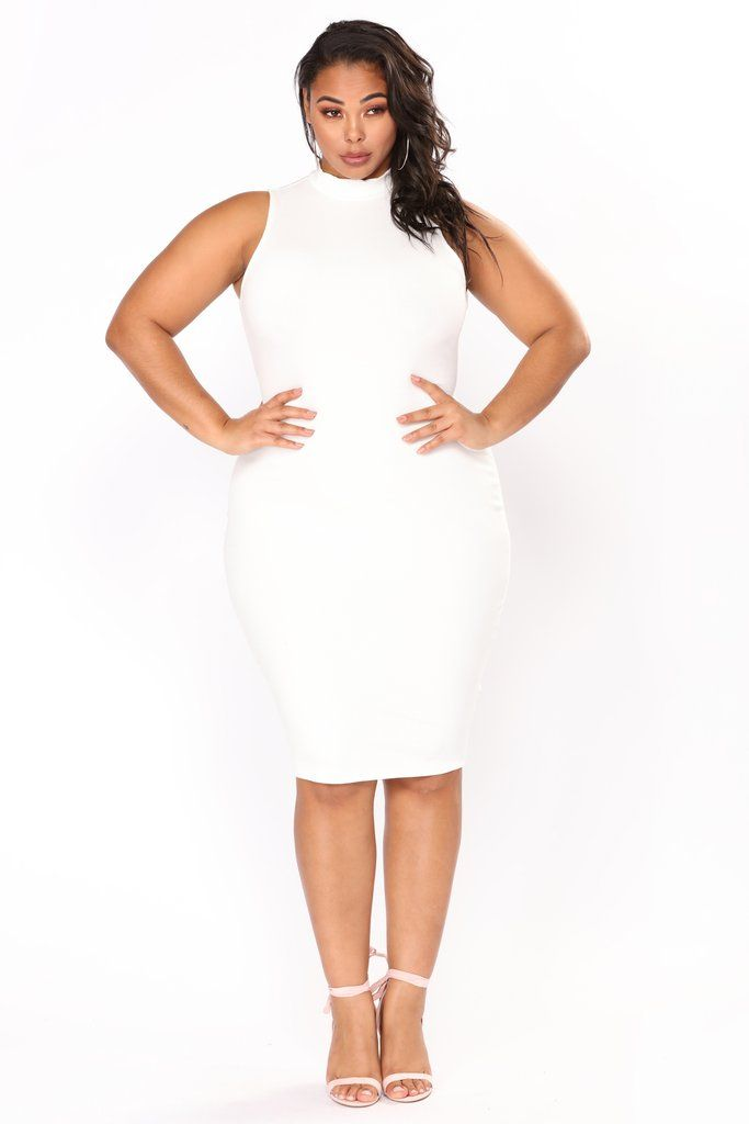 Need Somebody Ribbed Dress - White in 2019 | Dresses, Black ...