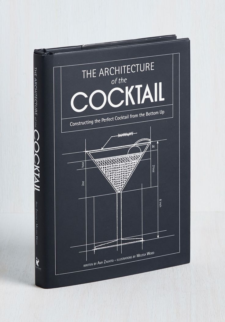 The Architecture of the Cocktail. Take your mixology from amateur to art form with this alphabetized collection of cocktail recipes! #multi #modcloth
