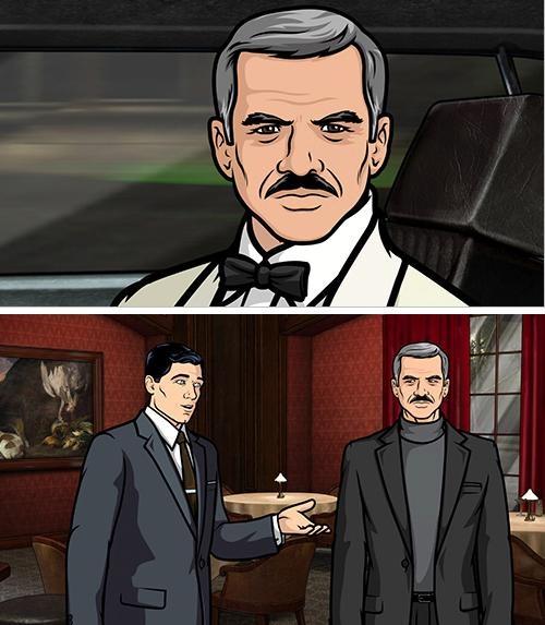 Burt Reynolds. A badass even in cartoon form. (Archer)