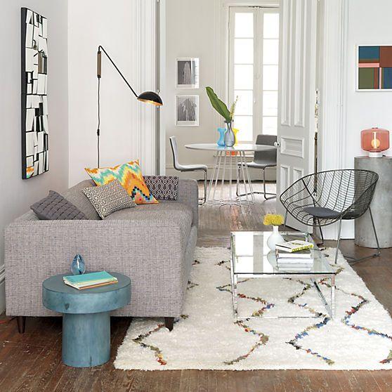 Beni multi rug 5x8 in rugs cb2 zigzag shag moroccan