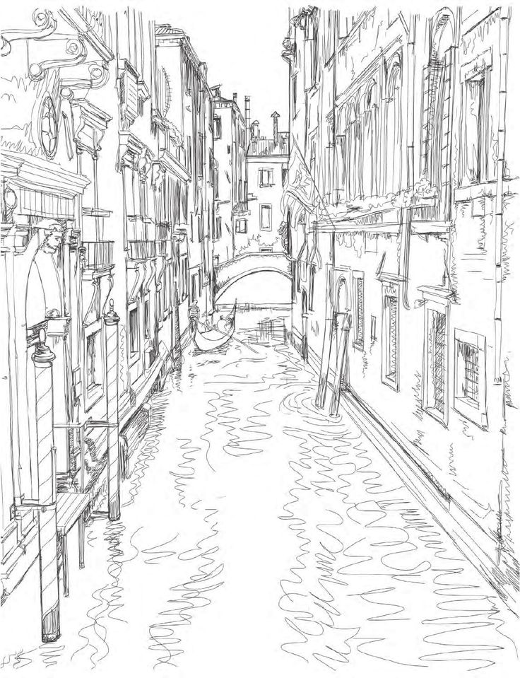 Venice Coloring Book for Adults --> If you're looking for the most popular adult coloring books and supplies including gel pens, colored pencils, watercolors and drawing markers, go to our website at http://ColoringToolkit.com. Color... Relax... Chill.