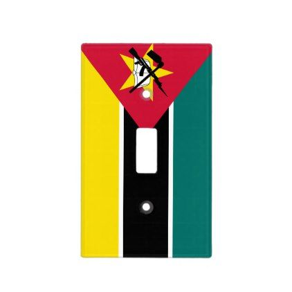 #Mozambique Flag Light Switch Cover - #country gifts style diy gift ideas