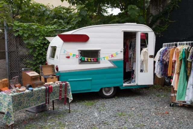 Poubelle Vintage, one of two mobile pop-up shops that will be parked outside of OddFellows tonight