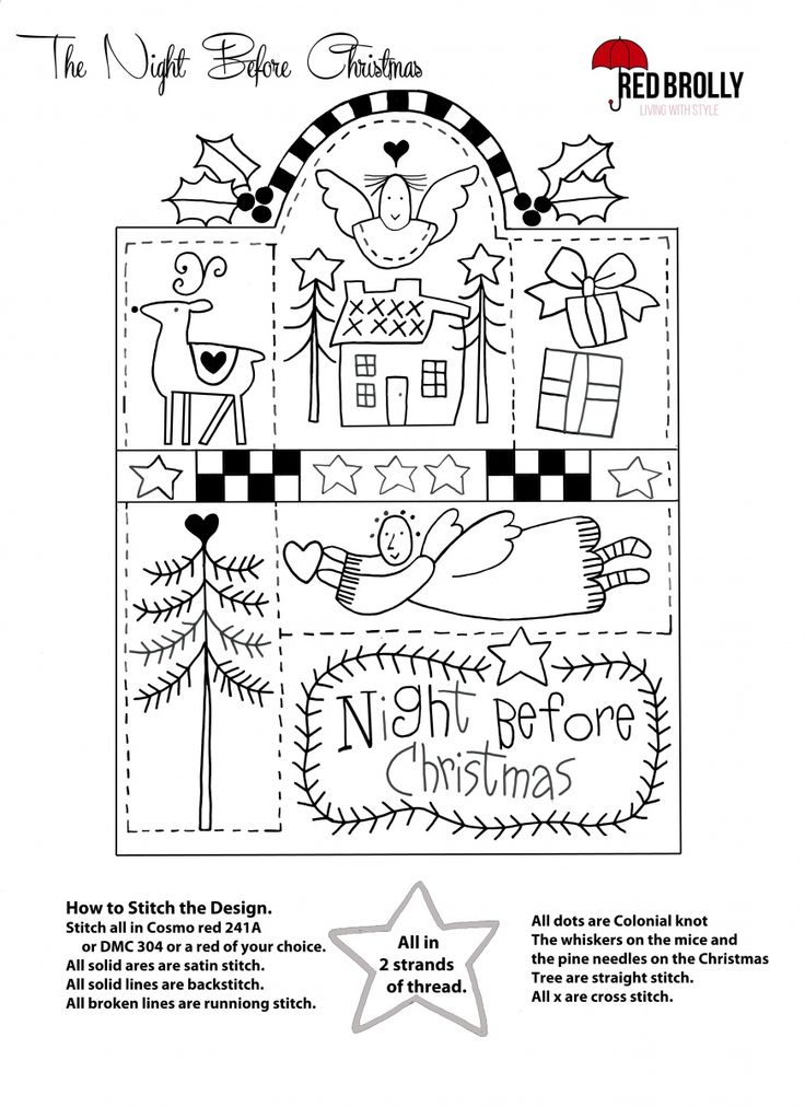 The Three Night Before Christmas Samplers - #1 free sampler from red-brolly.com