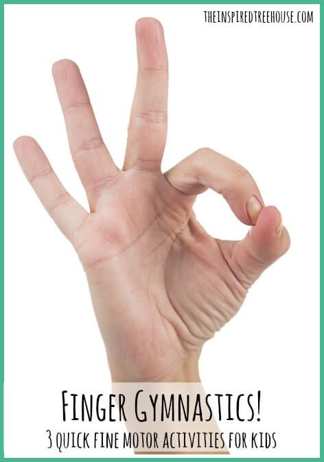 In hand manipulation and finger coordination are so important for kids to fasten buttons, open containers and more!  Check out our finger gymnastics for awesome practice!