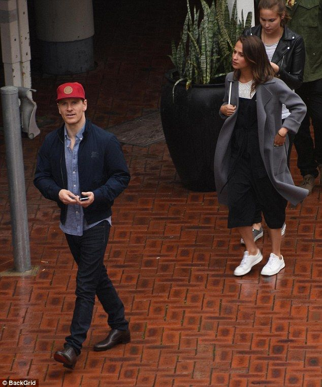 Fancy seeing you here! Michael Fassbender and rumoured girlfriend Alicia Vikander made a rare public appearance in Sydney on Saturday