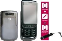 PACK Ideus Cuidado Esencial #Blackberry 9800  El pack perfecto para proteger tu terminal. Incluye fina carcasa transparente, protector de pantalla y stylus. El cuidado total para tu movil.