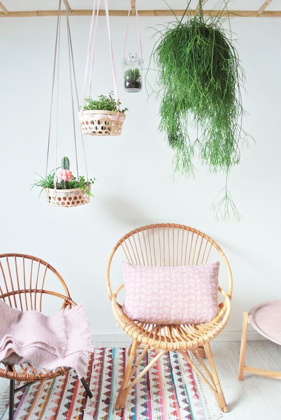 13 estupendas maneras para colgar tus plantas | Decoración