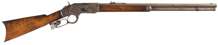 Western Frontier Winchester Model 1873 Lever Action Rifle Attributed to Wild West Showman Buffalo Bill with Inscribed Presentation Wild West Show Cane