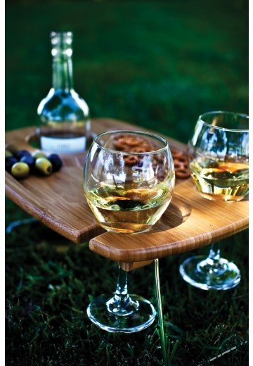 Serving Tray Mesavino it's perfect for romantic picnics or the beach. Anytime you need a sturdy lap table to hold your wine and food. Is a great gift.