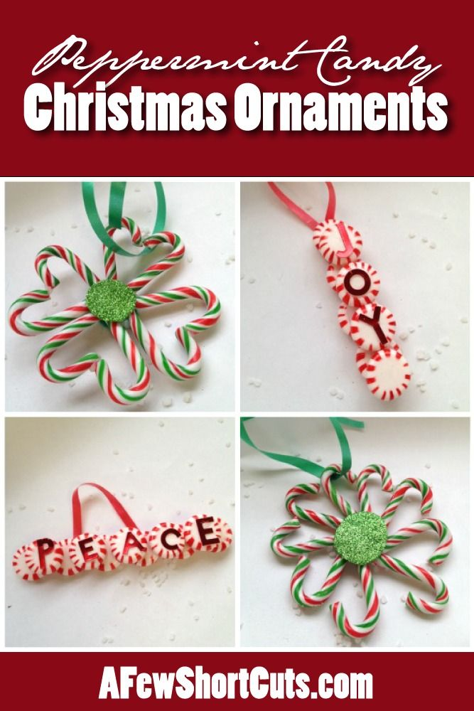 Try these DIY Peppermint Candy Christmas Ornaments. Such a fun craft for the kids!