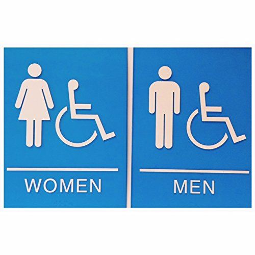 7 best restroom signs images on pinterest ada compliant restroom signs and wall plaques Men women bathroom signs