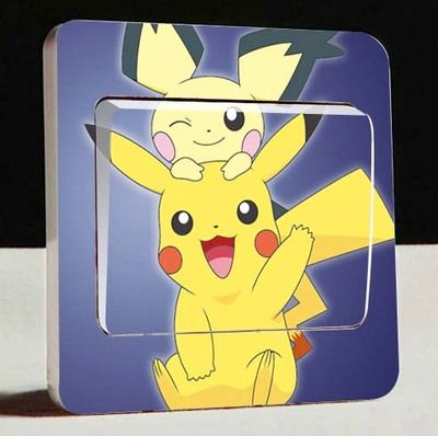 Pokemon Pikachu Light Switch Sticker (28 models) //Price: $4.29 & FREE Shipping //     #housedecoration