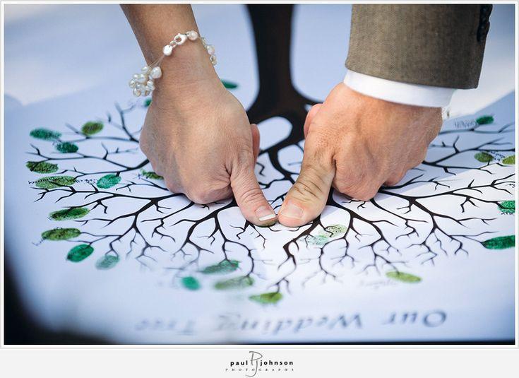 wedding tree thumb print instead of signing