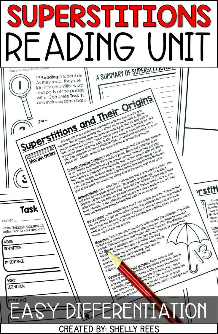 Friday The 13th And Superstitions Reading Passage Worksheets
