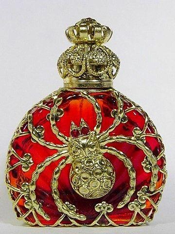 Art Deco Czech Spider Perfume Bottle.