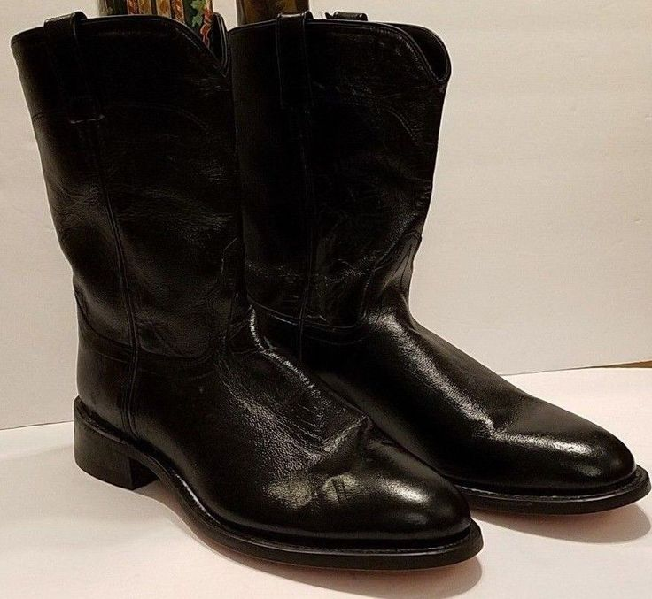 Old West Mens Western Boots Size 11 D Black Ropers #OldWest #CowboyWestern