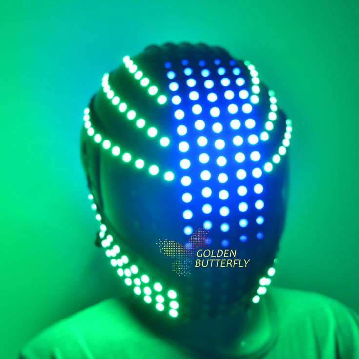 ==> [Free Shipping] Buy Best LED helmet Sense future motion helmet Monochrome/Full color Waterfall effect Glowing helmets RGB Party DJ Robot luminous helmet Online with LOWEST Price | 32598301637