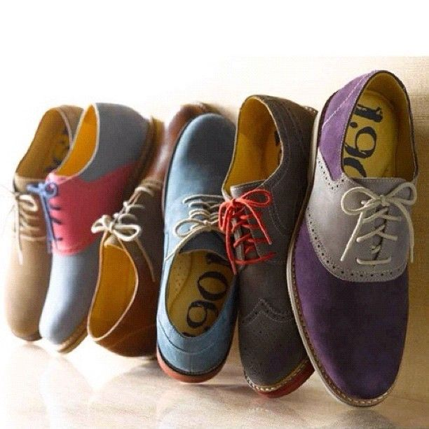 Brighten up your wardrobe with these colorful Oxfords. Works well with a