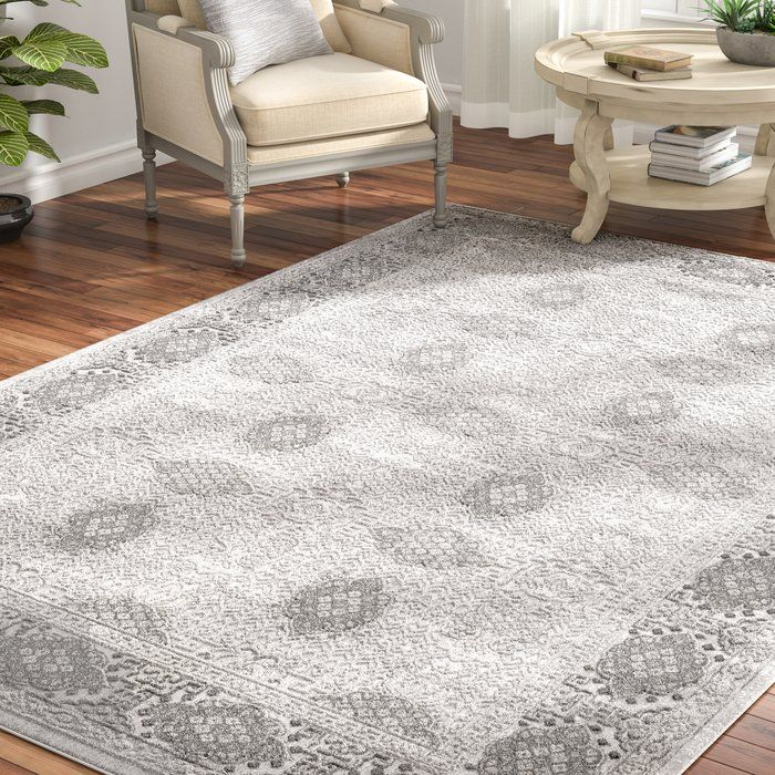 Feminine French Country Tilleul Vintage Persian Taupe Gray Area