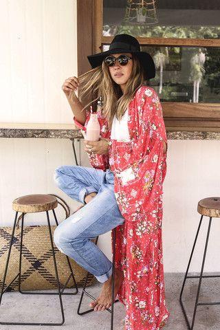 Sundancer Maxi Kimono -