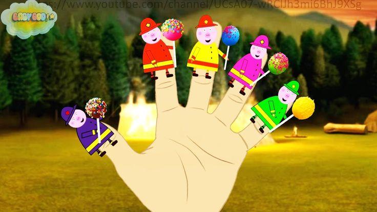 Fireman Pig Cake Pop Finger Family Song for Children