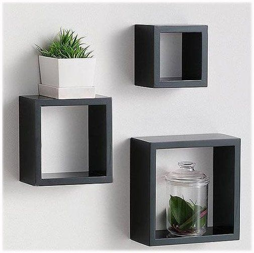 Wooden Cube Shelf Floating Shelf Cube Wall Rack HP3334 e1315430020614 furniture…