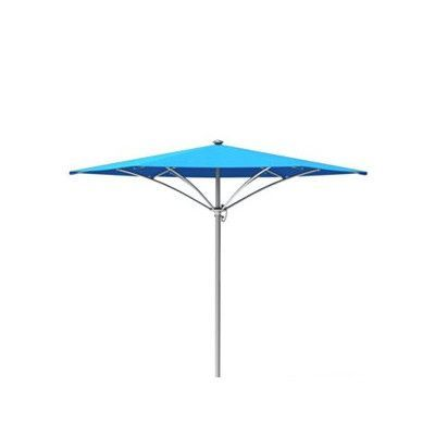 Tropitone Trace 6' Market Umbrella Fabric: Sparkling Water, Frame Finish: Parchment