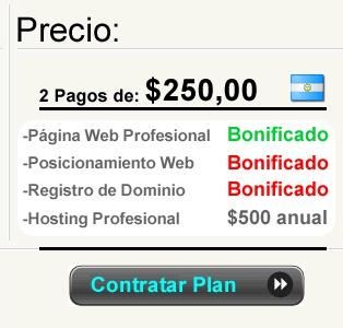 PLAN PYME 3.0 AUTOADMINISTRABLE    Contratando nuestro Hosting que tiene un valor de $500 pesos anuales, le regalamos lapágina web profesional y autoadministrable, valuada en $3000 pesos en el mercado. En total se ahorra hasta $5000 mil pesos.    http://www.supaginagratis.com.ar/plan-pyme-3-autoadministrable/