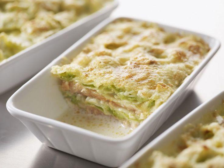 Recette Gratin de ravioles au saumon - Une recette Saint Jean