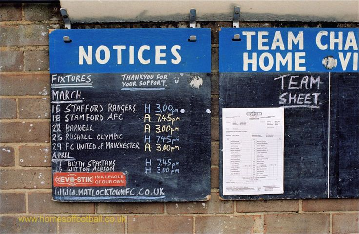 _10410 Fixtures and today's team posted, Matlock Town, England year2014 by Stuart Roy Clarke