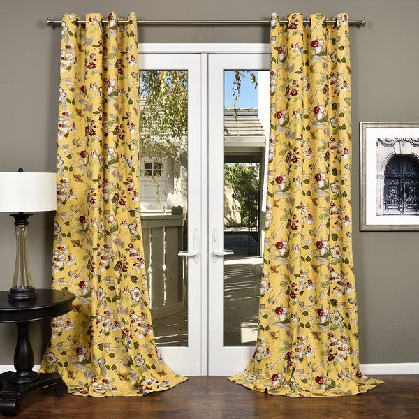 Simple Yet Sophisticated Vincenzo Floral Semi Sheer Grommet Single Curtain Panel Features A Bold Floral Design W Curtains Slipcovers For Chairs Home Decor Sale