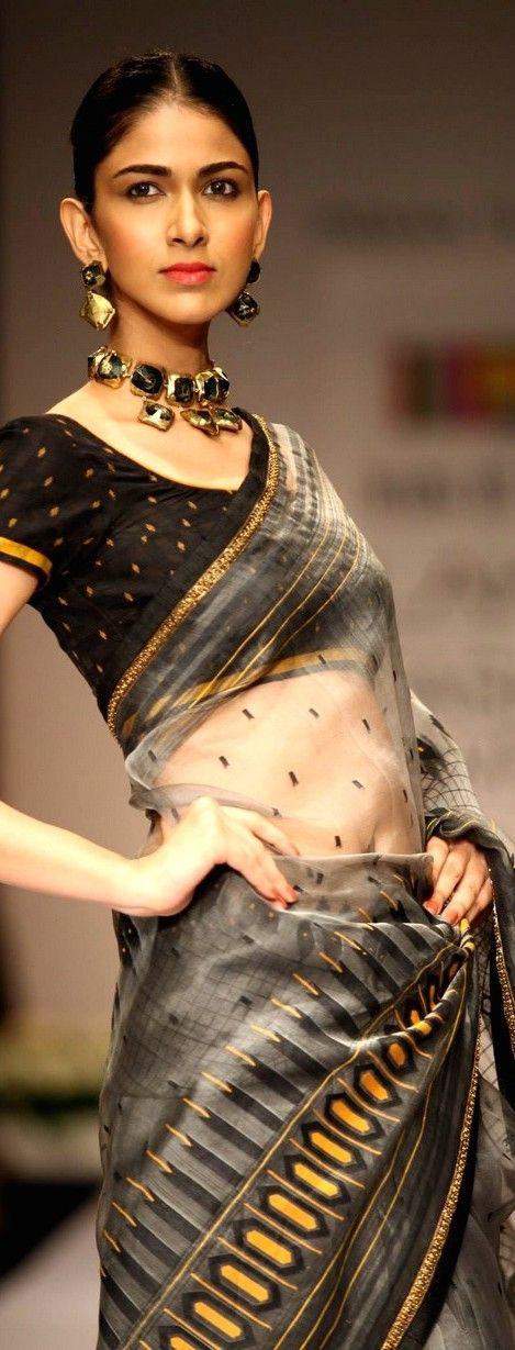 Soumitra Mondal Collection at Lakme Fashion Week 2013 - original pin by @webjournal