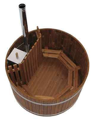Wooden Wood Burning Hot Tub in Garden & Patio, Swimming Pools & Hot Tubs, Hot Tubs | eBay