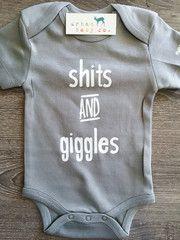 Shits & Giggles Baby, Boy, Girl, Unisex, Gender Neutral, Infant, Toddler, Newborn, Organic, Bodysuit, Outfit, One Piece, Onesie®, Onsie®, Tee, Layette, Onezie®