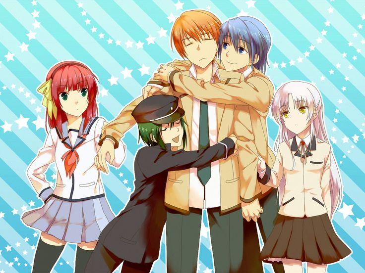 Anime Angel Beats!  Kanade Tachibana Yuri Nakamura Yuzuru Otonashi Ayato Naoi Hinata Hideki Wallpaper