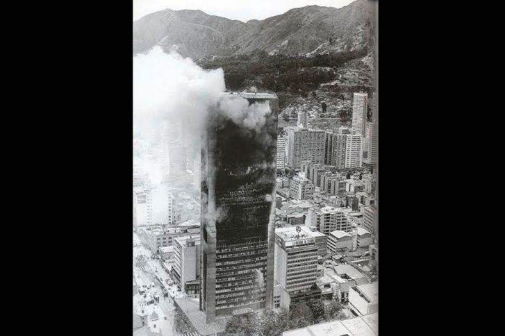 Santafé de Bogotá - Incendio del Edificio Avianca en 1973.