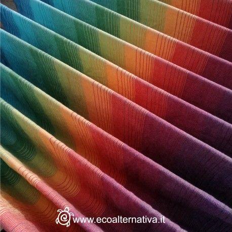 Fascia portabebè in cotone, taglia 6, media grammatura, tessuta da Girasol in esclusiva per Ecoalternativa